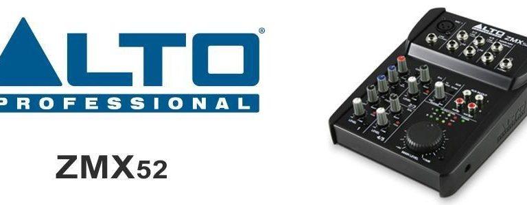 Ce que nous pensons de la table de mixage de ALTO Professional ZMX52